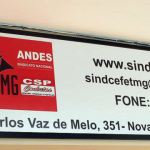 Placa do Sindcefet-MG