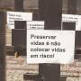 Ato do sindicato em fevereiro deste ano já pedia vacinação como medida prioritária para volta às aulas presenciais - Foto: Comunicação Sind-REDE (Fonte: Brasil de Fato).