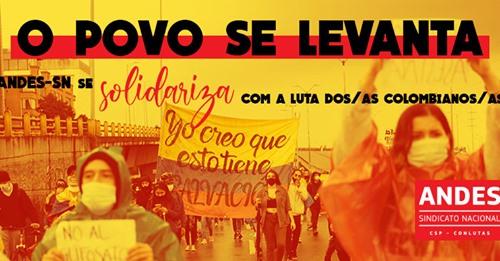 solidariedade ao povo colombiano