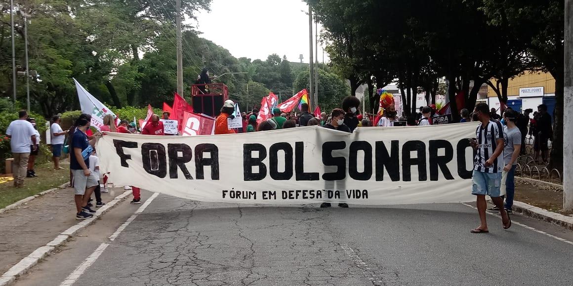 Manifestação em Timóteo, neste 24 de julho