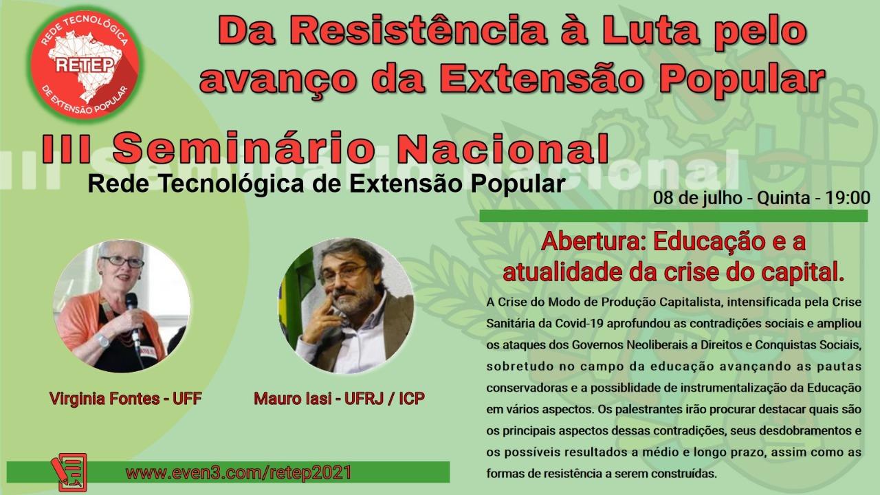 retep iii seminario nacional abertura