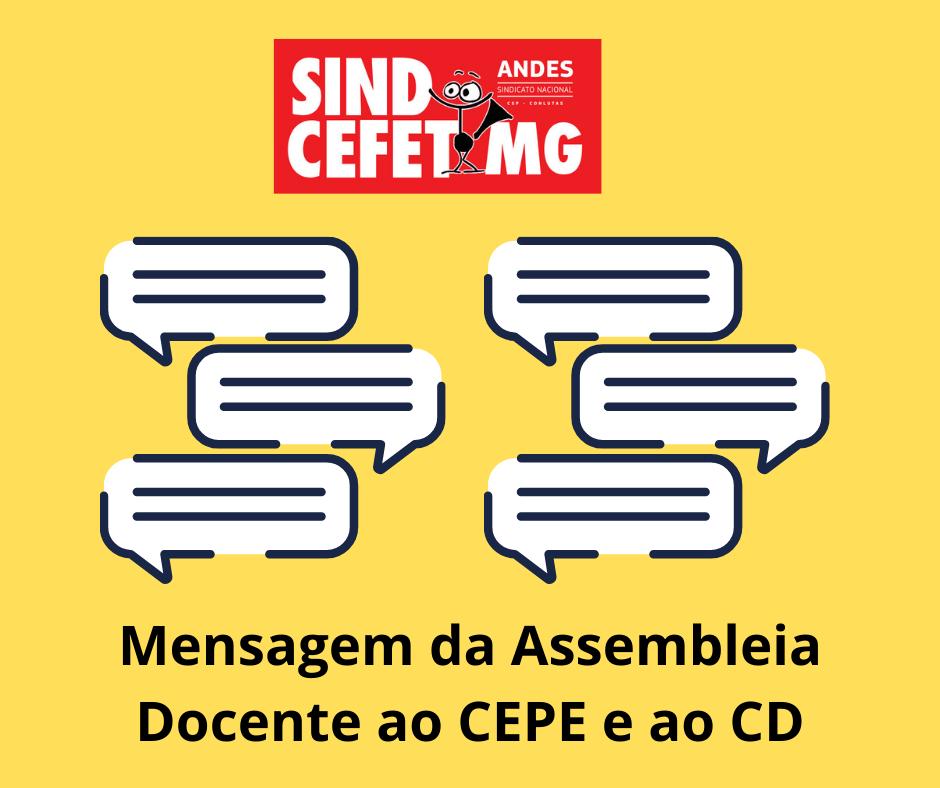 mensagem ao cepe e ao cd